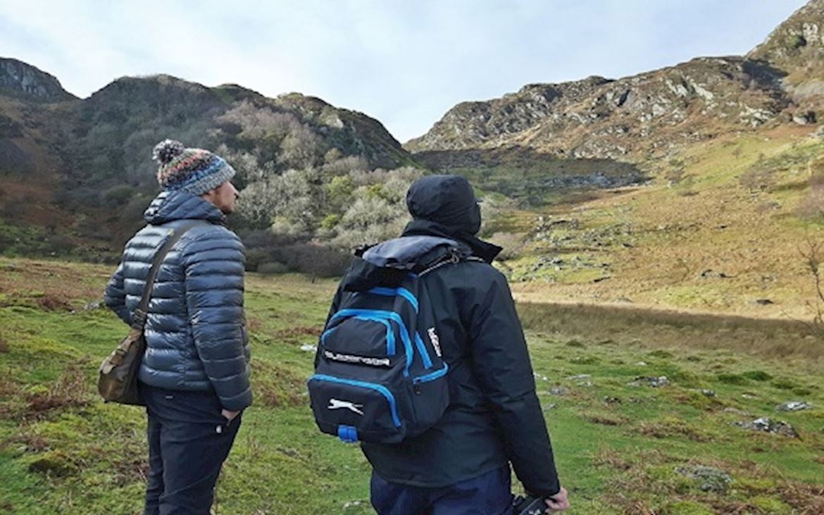 Two walkers Cwm Glas Crafnant